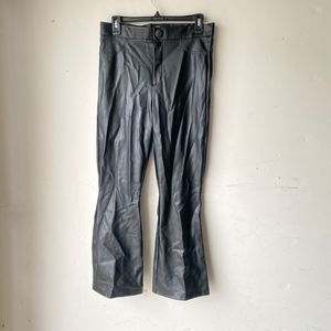 Zara women faux leather pants black nwot